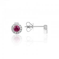 Luvente Ruby and Diamond Earrings