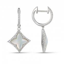 Luvente Mother of Pearl and Diamond Earrings