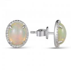 Luvente Opal and Diamond Earrings