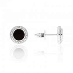 Luvente Onyx & Diamond Earrings