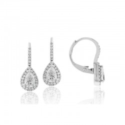 Luvente Diamond Hoop Drop Earrings