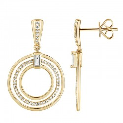 Luvente Diamond Circle Earrings