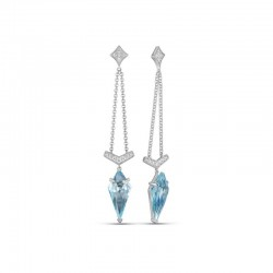 Luvente Blue Topaz Earrings