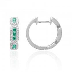 Luvente Emerald and Diamond Earrings