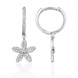 Luvente Diamond Flower Drop Earrings