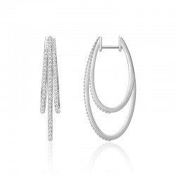 Luvente Diamond Oval Hoop Earrings