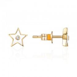 Luvente White Enamel Star Earrings
