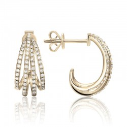 Luvente Diamond J Hoop Earrings