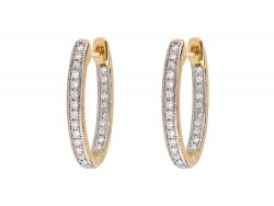 JudeFrances 18KY Delicate Small Oval Hoop Earrings