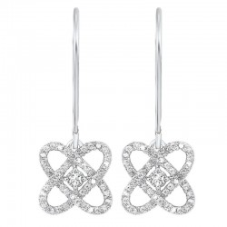 Sterling Love's Crossing Diamond Earrings
