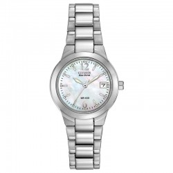 The surprise of a mother-of-pearl dial lends this ladies sport watch a extra feminine touch. Ever practical