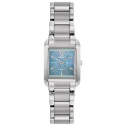 Citizen Stainless blue square dial