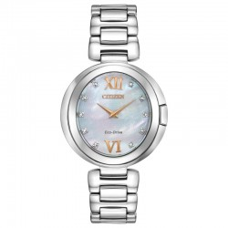 Citizen Eco WR50 Stainless MoP Diamond Dial