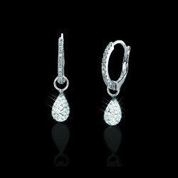 Solare Diamond Hoop Earrings