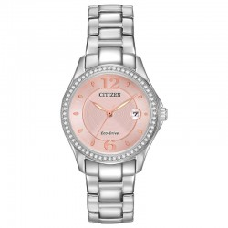 Classic lines and a hint of sophistication allow for this Citizen Silhouette Crystal timepieces to stand out.