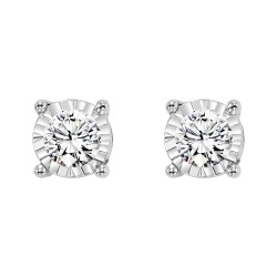 14KW Diamond Studs .10ct tw