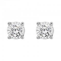 14K White Gold Diamond Studs .15ct tw