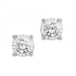 14K White Gold 1.00ct tw Diamond Studs