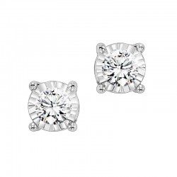 14KT White Gold TruRef Bas Studs