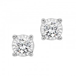 Lady's 14KW Gold Stud Earrings