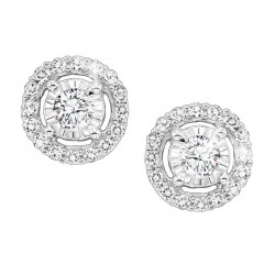 Lady's 14K White Gold Gold Stud Earrings