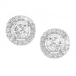 Lady's 14K White Gold Gold Stud Earrings