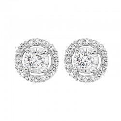 14KW Diamond earrings .70ct tw