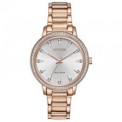Citizen Silhouette Crystal fashionable precise and powered by light creates an appeal unlike any other decorated with Swarovski crystals.