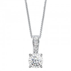 Lady's 14K White Gold Gold Pendant