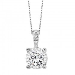14KW Diamond pendant .32ct tw