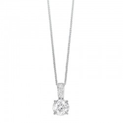 14K White Gold Diamond Pendant with Diamonds