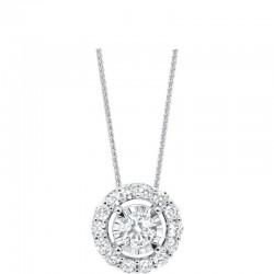 Lady's 14K White Gold Gold Diamond Pendant