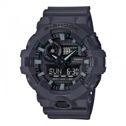 G-Shock Gray Analog-Digital Watch, Black Dial, Resin Strap