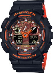G-Shock Watch Black/Orange Dial
