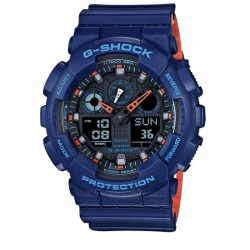 G-Shock Military Clear Layer, Blue/Red Resin Strap