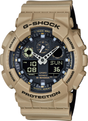 G-Shock Watch Military Clr Layer Tan/Black Resin Strap