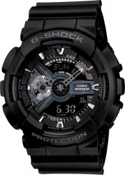 G-Shock Big Case Watch Black Resin Strap, Black w/Grey Accents & Rev LCD