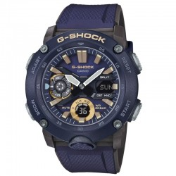 G-Shock Watch Step Tracker, Carbon Core Guard Navy Resin Band , Navy Blue Dial