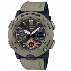 G-Shock Watch Step Tracker,Carbon Core Guard Beige Resin Band , Black Dial