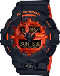 G-Shock Watch Bright Red Accents
