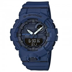 G-Shock Watch Step Tracker, Navy Blue Resin Strap, Navy Blue Dial