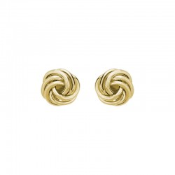 14K Yellow Gold  Stud Earrings, Medium Knots 8.5mm