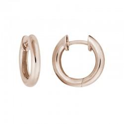 14KR Rounded Edge Hinged Hoop Earrings