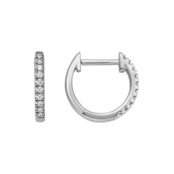 14KW Diamond Hinged Hoop Earrings