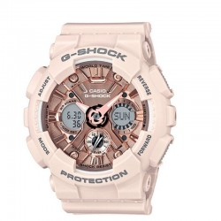 G-Shock Ladies' Watch Metallic Face Resin Strap, Pastel Pink
