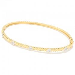 Samuel B. 18KY Gold Diamond Bangle