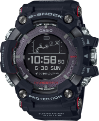G-Shock Rangeman Watch GPS BLE Solar, Black Resin Strap