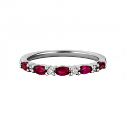 14KW Ruby & Diamond Band