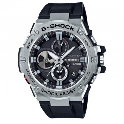 G-Shock Watch GST Solar Resin Strap, Black Dial