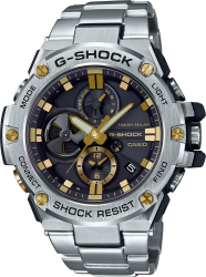 G-Shock ST Watch Solar BLE, ST Band, Black/Gold Dial